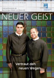 Neuer Geist 1/2013 - Barmherzige Brüder von Maria-Hilf