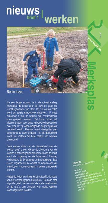 Nieuwsbrief nr. 1 - Vlaamse Landmaatschappij