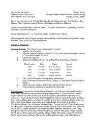 REGULAR MEETING - Meade School District