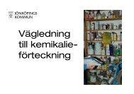 Vägledning till kemikalie- förteckning - Jönköpings kommun