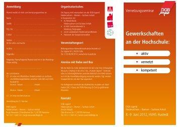 Gewerkschaften an der Hochschule: - DGB Niedersachsen