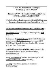 Leben mit Autismus in Thüringen Fachtagung am 04.09.2010 ...