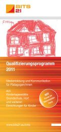 Qualifizierungsprogramm 2011 - BITS 21 | WeTeK Berlin gGmbH