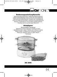 DG 2596 Bedienungsanleitung/Garantie Dampfgarer - Clatronic