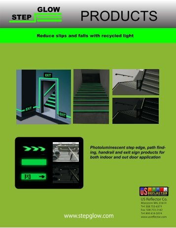 Step Glow Glow in the dark stairs - US Reflector