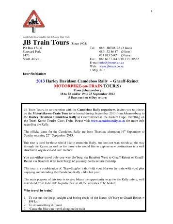 22 Sept - JB Train Tours