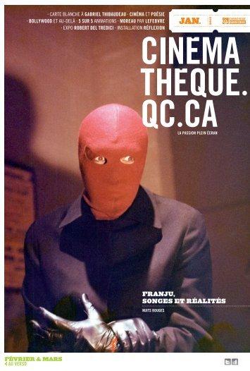 Dépliant de la programmation - Cinémathèque québécoise