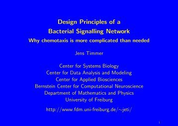 Design Principles of a Bacterial Signalling Network