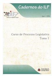 Processo Legislativo Tomo 1 - Assembleia Legislativa do Estado de ...