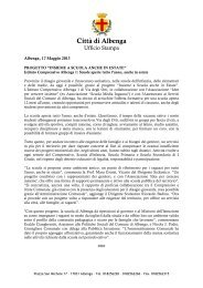 Città di Albenga - Comune Albenga