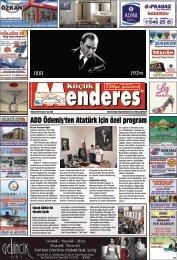 10 Kasım tarihli Küçükmenderes Gazetesi