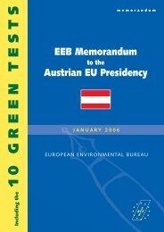 EEB Memorandum to the Austrian Presidency
