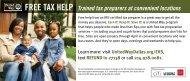 FREE TAX HELP Trained tax preparers at convenient locations