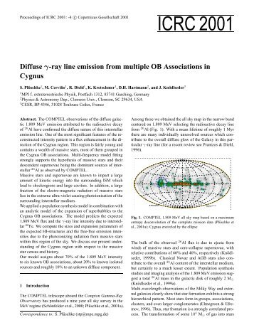 Diffuse gamma-ray line emission from multiple OB ... - Cesr