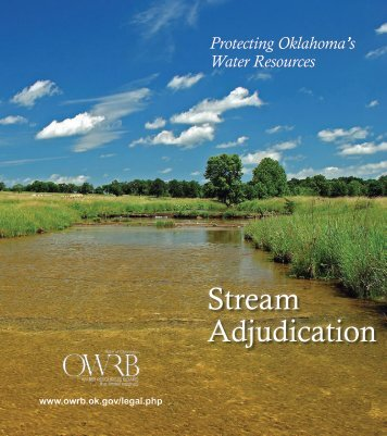 Stream Adjudication - Water Resources Board - State of Oklahoma