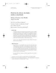 História da ciência: da idade média à atualidade - Editora Metodista ...