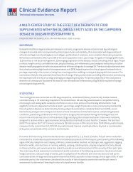 Clinical Evidence Report - Hill's Pet Nutrition