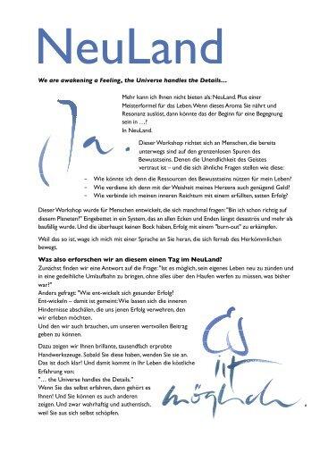 Detailinformationen zum Seminar NeuLand - Ihr Einkauf