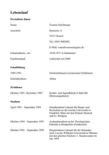 Niedlich Probe Lebenslauf Bildung Gymnasium Bilder - Entry Level ...