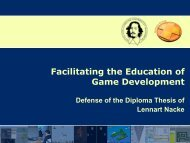 Facilitating the Education of Game Development - The Acagamic