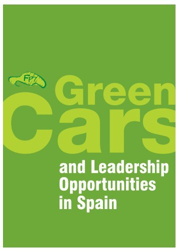 FP7 Green Cars and Leadership Opportunities in Spain - ertrac