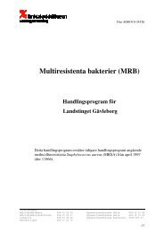 Multiresistenta bakterier (MRB) - Landstinget Gävleborg
