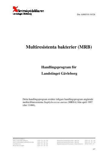 multiresistenta bakterier mrsa