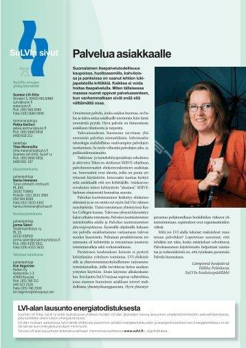 Vihreät sivut 5/2006 - Suomen LVI-liitto | SuLVI ry