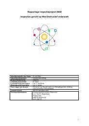 Inspecties gericht op Niet Destructief onderzoek ... - Inspectie SZW