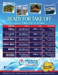 new vacations 2012 flyer - Maduro Travel Aruba