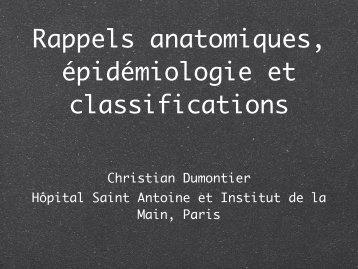 Radius distal classifications anatomie Ch. Dumontier - ClubOrtho.fr