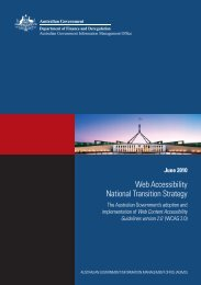 Web Accessibility National Transition Strategy - Department of ...
