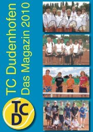 Jetzt neu: Therapie-Abo - TC Dudenhofen