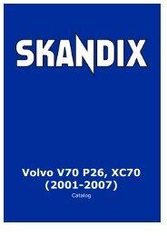 SKANDIX Catalog: Volvo V70 P26, XC70 (2001-2007)