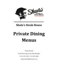Private Dining Menus - Sheraton Chicago Hotel & Towers