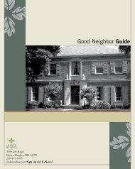 Good Neighbor Guide - City of Shaker Heights