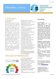 Ausgabe 01/2012 [pdf, 192 - Deutscher Internationaler Club in Genf ...
