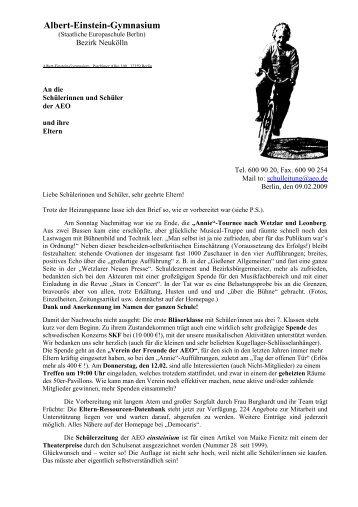 Citaten Albert Einstein Gym : Gesamtangebotsübersicht