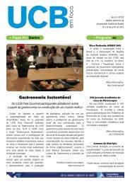 em foco - Universidade Católica de Brasília