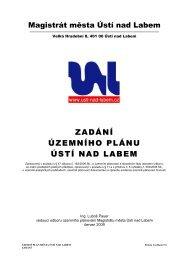 ZADÁNÍ ÚZEMNÍHO PLÁNU ÚSTÍ NAD LABEM - Statutární město ...