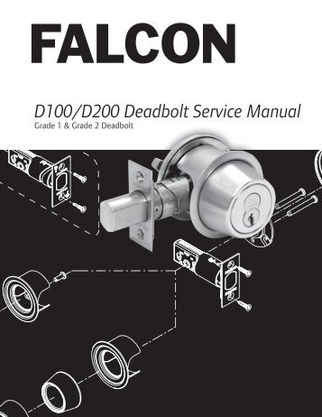 D100/200 Series Service Manual - Falcon Locks