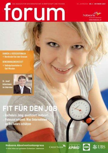 Fit FüR deN job - Hobsons.ch