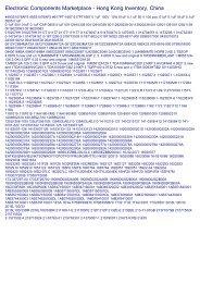 Part Search 0516 - #493S1076AP3, #617PT-1667, 0 ... - Hong Kong