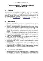 Besondere Bestimmungen der ... - Voltigieren Baden-Württemberg