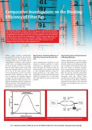Comparative Investigations on the Blocking Efficiency of Filter Tips