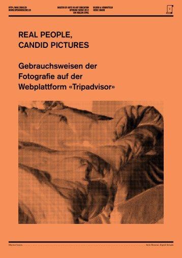 Real PeoPle, Candid PiCtuRes Gebrauchsweisen der Fotografie auf ...