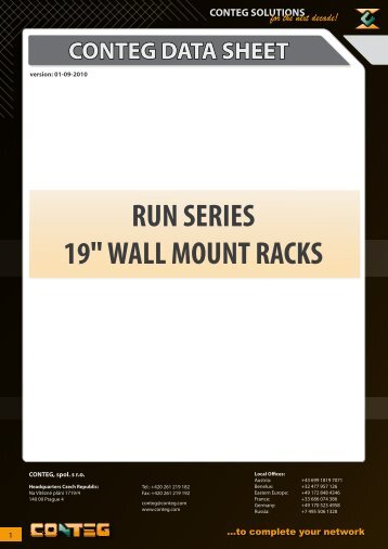 "RUN SERIES 19"" WALL MOUNT RACKS - Conteg"