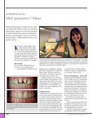Med pasienten i fokus - Den norske tannlegeforenings Tidende