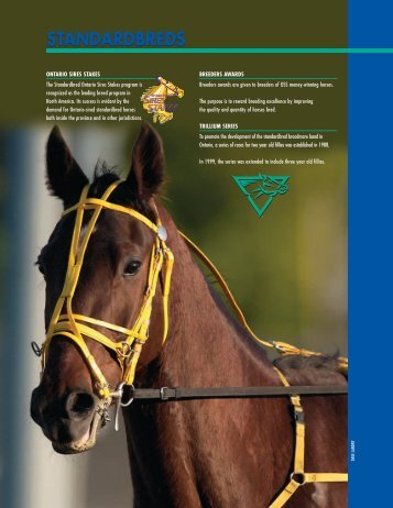 STANDARDBREDS - Ontario Racing Commission