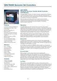 GEN-TRANS Generator Set Controllers - Crompton Western ...